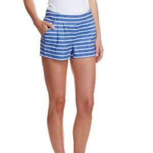 Vineyard Vines Blue Striped Shorts Pleat Front 0